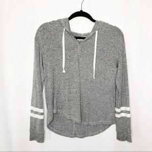 Hollister grey hooded sweater small lightweight